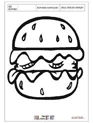 Hamburger Boyama Sayfaları
