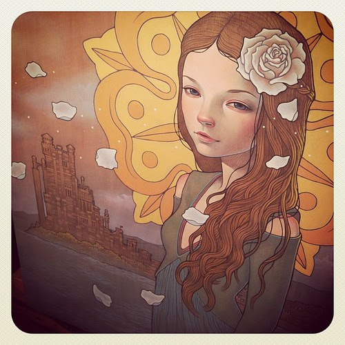 'Game of Thrones' Gallery Show opened tonight at Mondo Gallery in Austin, TX. runs till 3/12. I chose Margaery Tyrell.'Growing Strong' #mondogallery #gameofthrones #margaery by audkawa