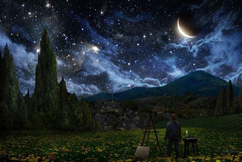 starry night painting  alex ruiz wallpaper