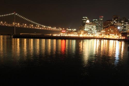 Bay Bridge fades into the skyline