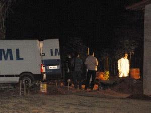 Partes do corpo de policial são encontradas por pedreiros em chácara de Goiás (Foto: Claudemir Ratinho/ Arquivo Pessoal)