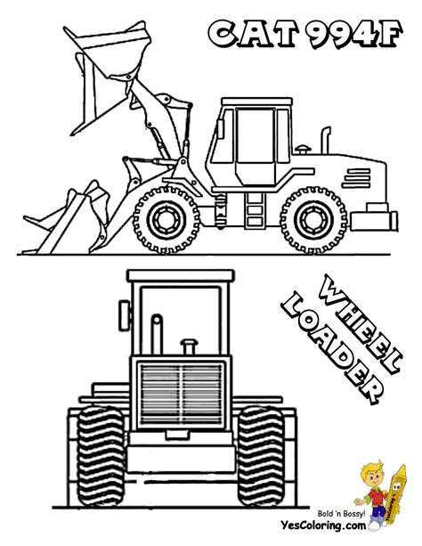 digging  construction coloring pages excavator