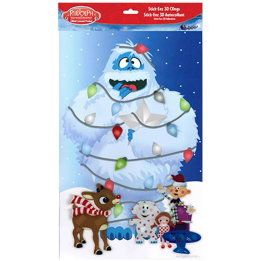 16x10 Rudolph Christmas 3d Window Cling Bumble And Misfits