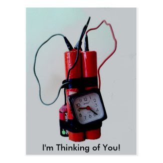 I'm Thinking of You - a bit of a bombshell - humor Postcard