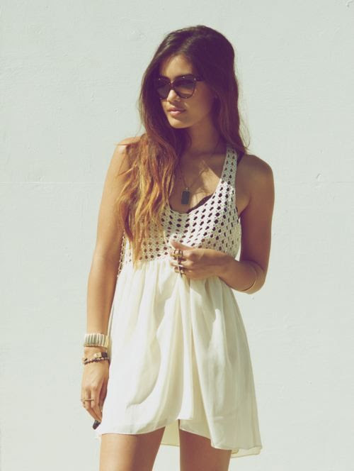 white sundress for the beach