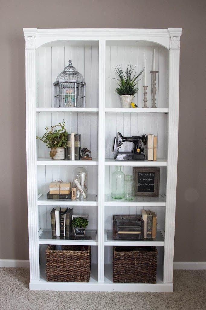 DIY Reclaimed Crates + Bookcase Makeover   blesserhouse.com