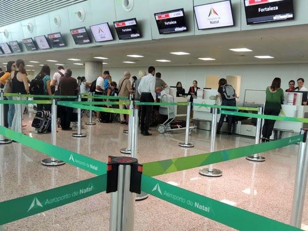 Novo aeroporto do RN começou a funcionar neste sábado (31) (Foto: Fred Carvalho/G1)