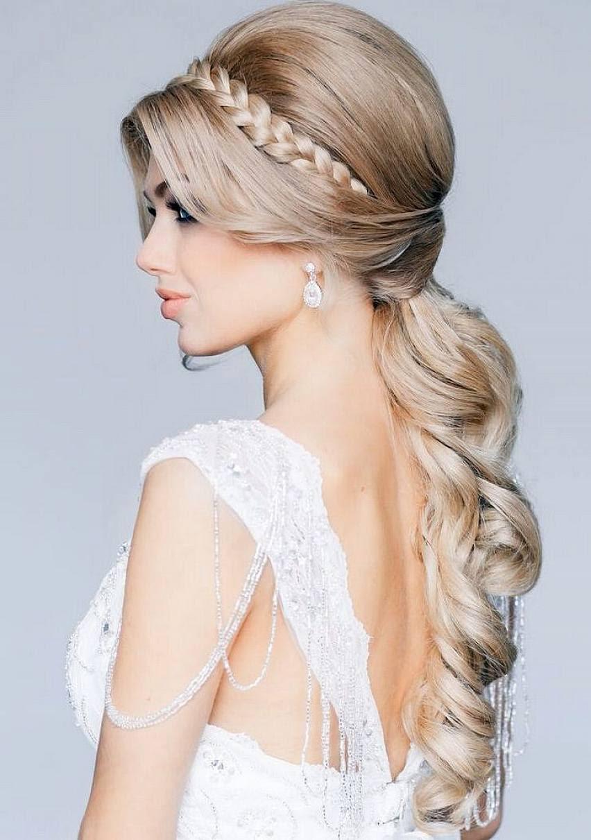 Long Hair Wedding Style Nur Novel