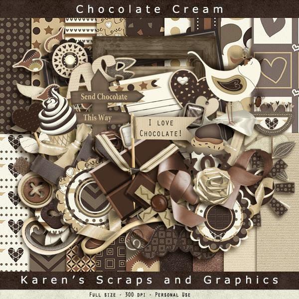 FREE Chocolate Cream Kit from Karen's Scraps and Graphics