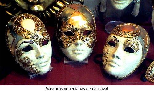 Las máscaras venecianas tradicionales estaban elaboradas con papel-maché,