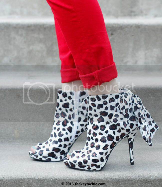 Kate Young for Target Naya leopard ankle bootie