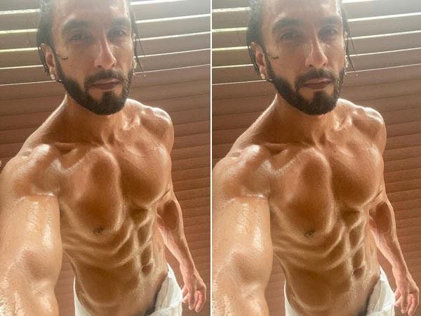 Ranveer Singh poses in a towel
