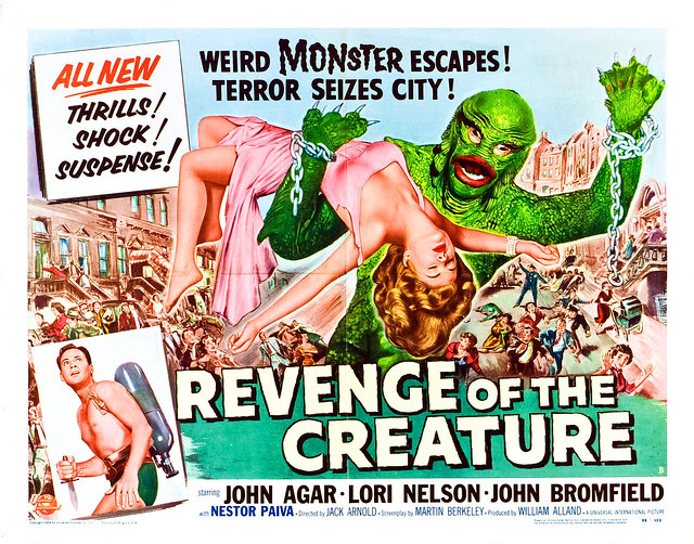 Reynold Brown - Revenge of the Creature (Universal International, 1955). Half Sheet