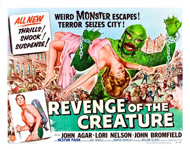 Reynold Brown - Revenge of the Creature (Universal International, 1955). Half Sheet