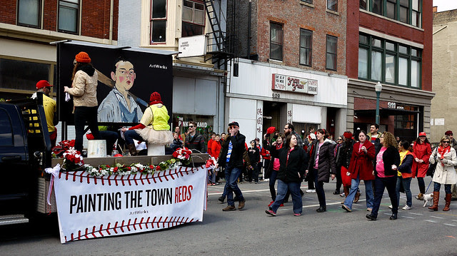Reds Opening Day parade