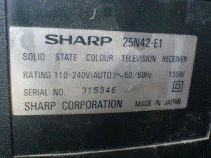 Model televisi sharp