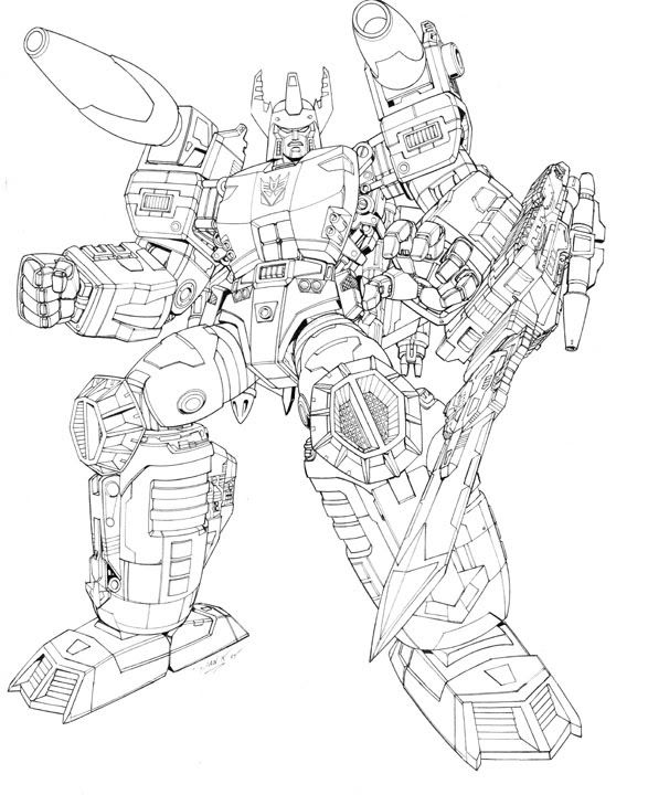 Drawing Bot Transformer Transformers Coloring Pages Optimus Best