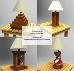 Assorted Lamps Collection Woodworking Pattern - fee plans from WoodworkersWorkshop® Online Store - wooden lamps,table lamps,patterns,drawings,woodworkers projects,workshop blueprints