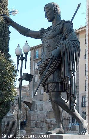 Estatua del emperador Augusto. Zaragoza