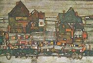 «Vorstadt II» di Egon Schiele, proveniente dal Leopold Museum di Vienna