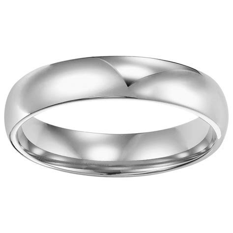 4mm Comfort Fit Low Dome Wedding Band, Polished ? Romance