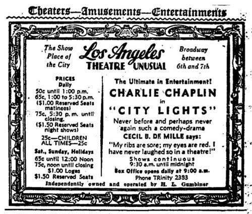 Los Angeles Theatre Ad
