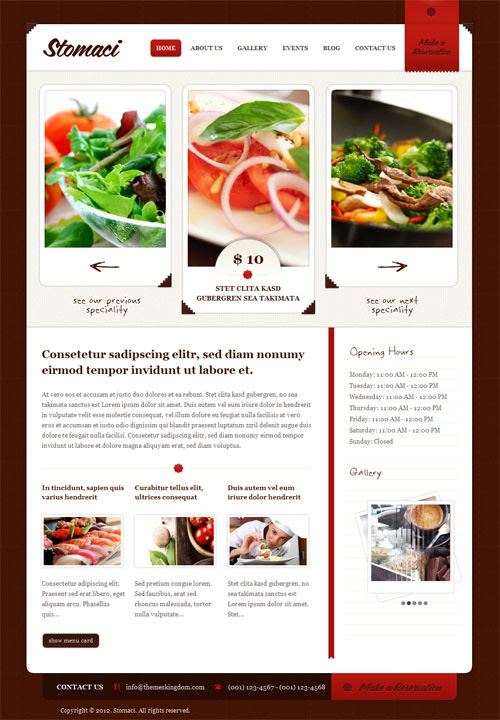 Restaurant, Cafe, Coffee Shop and Food WordPress Themes