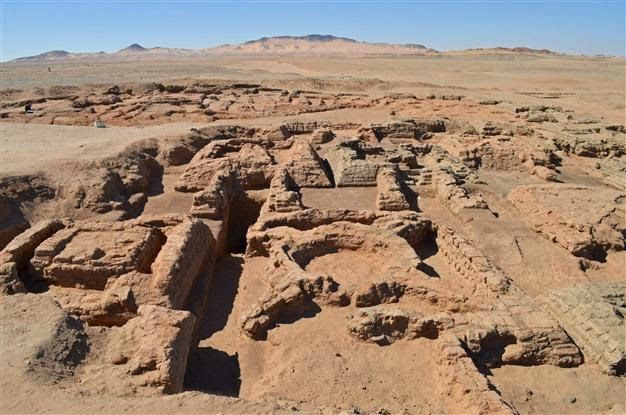 Searching for Sudan's missing pyramids  Little by little, the deserts of northern Sudan slowly reveal the secrets they have held for 2,000 years and more.   The foundations of four pyramids unearthed by a French archaeological team headed by Claude Rilly in Sedeinga, 500 kilometres north of the capital Khartoum [Credit: AFP] With wheelbarrows, pulleys and shovels, sweating labourers have unearthed the remains of pyramids, temples and other ancient monuments.