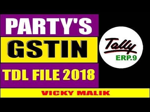 GST: Tally GSTIN Type TDL File, Download Latest TDL Files, Tally