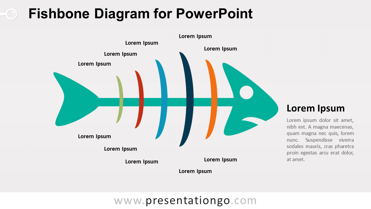 Cause Effect Fishbone Diagram PowerPoint Colored