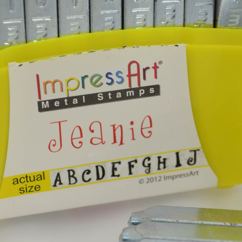 s39267 ImpressArt Stamps - 4 mm Stamp/Punch Collection - Jeanie - UPPERCASE Letters (Set)