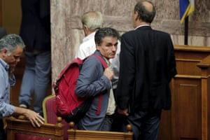 Greek finance minister, Euclid Tsakalotos