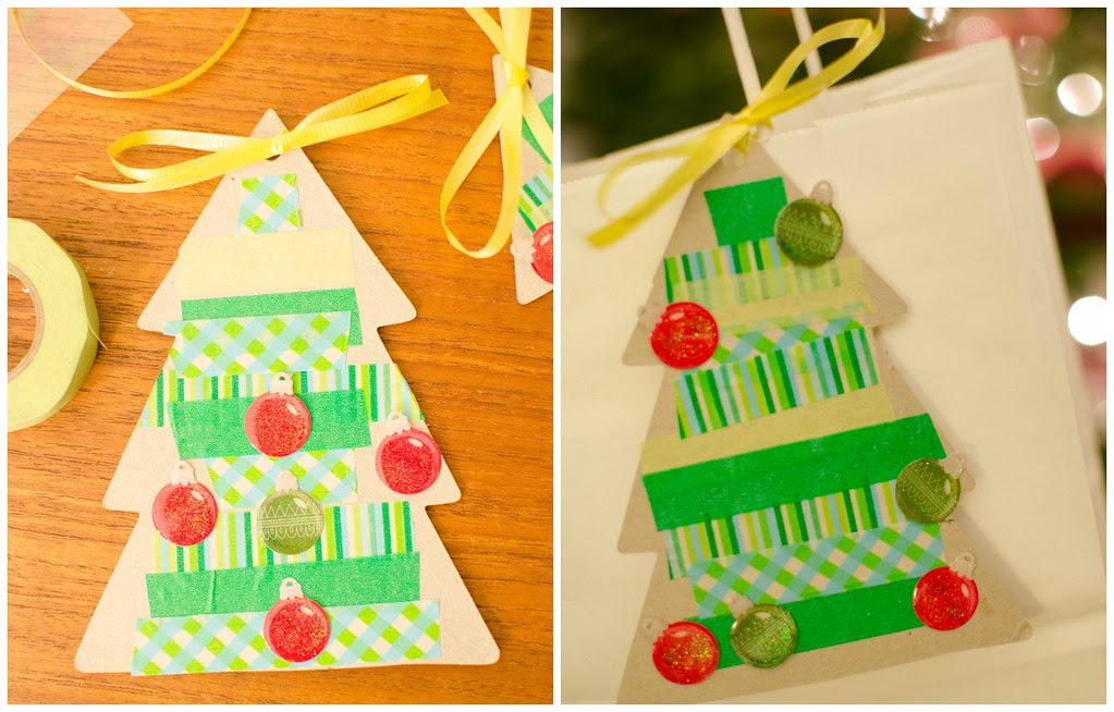 kids christmas tree tag Collage