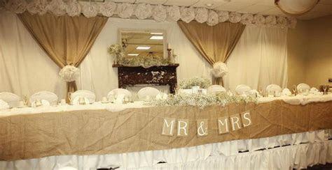Rustic, Vintage Wedding .Head Table   Wedding Decor