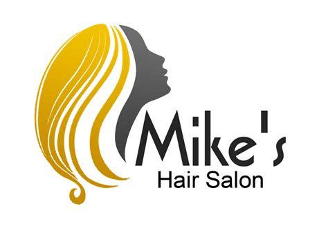 hair logo design  mikes hair salon  perfection