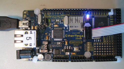 Freetronics EtherMega2560 and Atmel AVRISP mkII