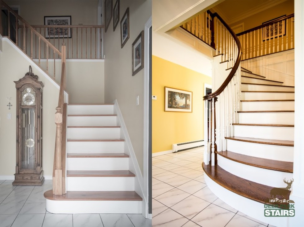 Staircase Renovation Before After Deer Park Stairs