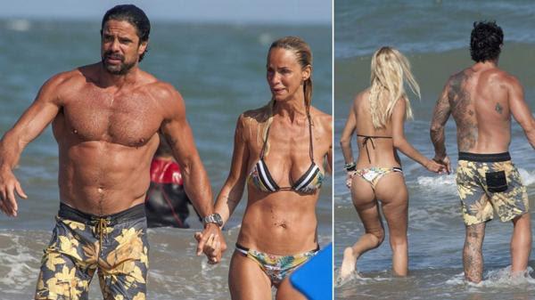Luciano Castro y Sabrina Rojas disfrutan de las playas marplatenses