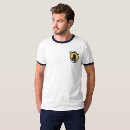 Basic Ringer T-Shirt: Math Smart Caveman T-Shirt