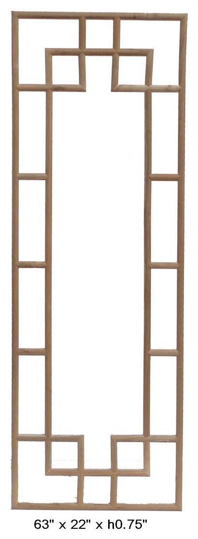 Chinese Elm Wood Geometric Pattern Rectangular Panel ($350 ) This ...