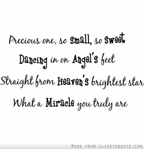 Precious One So Small So Sweet Dancing In On Angels Feet