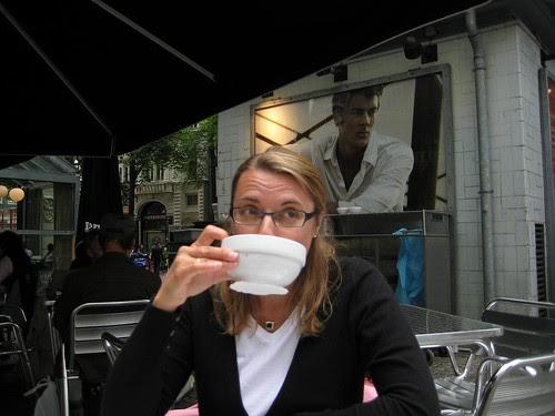 Koffie verkeert met handsome man