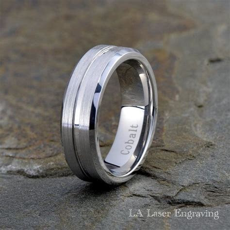 Men's Cobalt Wedding Band Cobalt Wedding Ring by