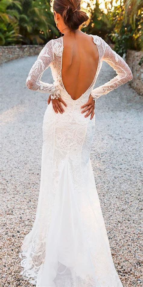 21 Fascinating Open Back Wedding Dresses   Wedding Dresses