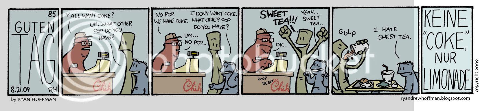 guten tag,chick-fil-a,down south,pop,coke,sweet tea