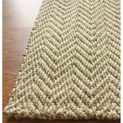 Handmade Luna Restoration Living Wool and Jute Rug (4' x 6')
