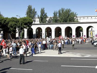 Manifestación de los funcionarios contra los recortes en Madrid.
