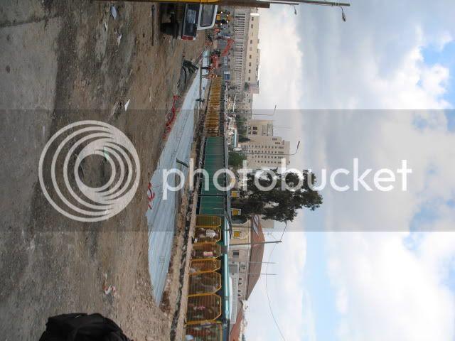 Light Rail Jerusalem construction