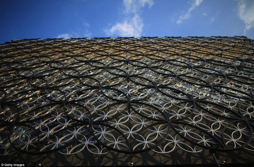 Intricate: The library's futuristic exterior of interlacing rings aims to reflect the city's canals and tunnels