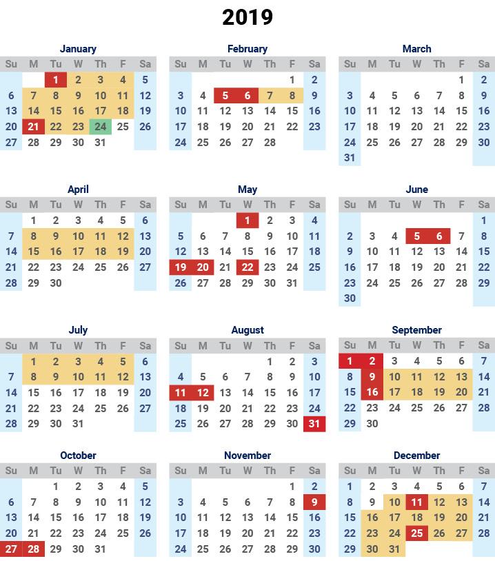Free Printable Monthly Calendar 2019 Australia Australia Moment